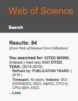 web of science iJMR